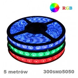 Taśma LED RGB SMD 5050 300 IP20 5M multikolor