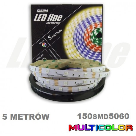 Taśma LED RGB SMD 5060 150 5M multikolor