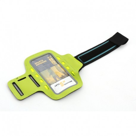 PLATINET SPORT ARMBAND FOR SMARTPHONE GREEN WITH LED 43707