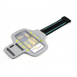 PLATINET SPORT ARMBAND FOR SMARTPHONE GREY WITH LED 43709