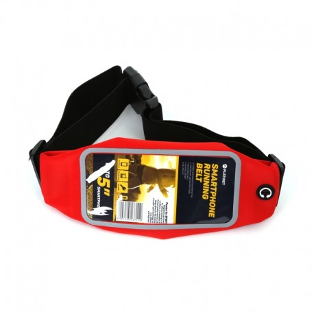 PLATINET PAS DO BIEGANIA Z OKNEM NA SMARTPHONE / WAIST BAG WITH SMARPTHONE WINDOW RED