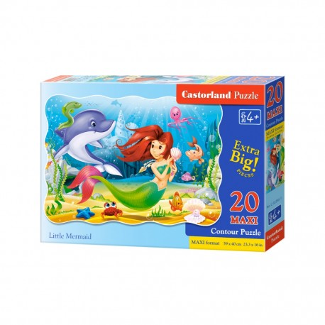 Puzzle Maxi Little Mermaid 20el Castorland